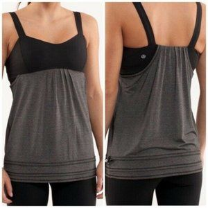 Lululemon Size 6 Back on Track Heathered Gray